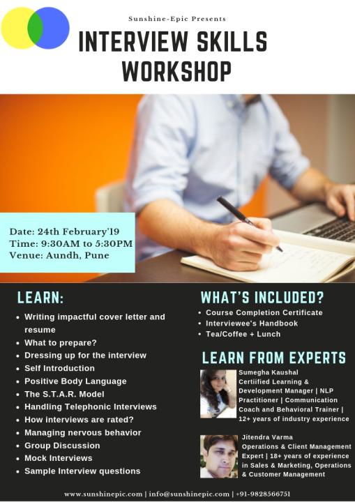 Interview Skills Workshop, Pune - Big Trader